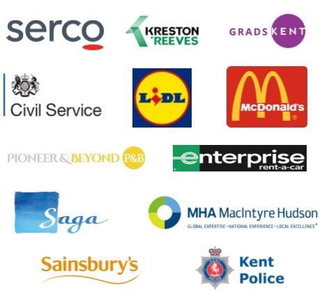 Employers attending the careers fair