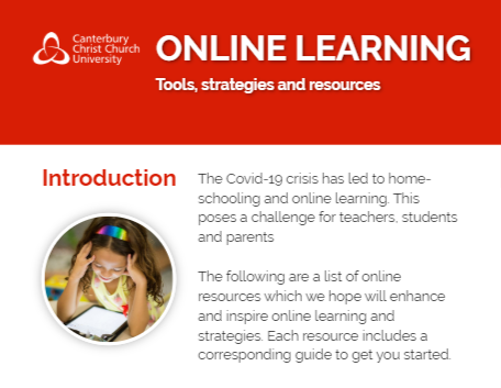 Image of online learning website which is itself a hyperlink.