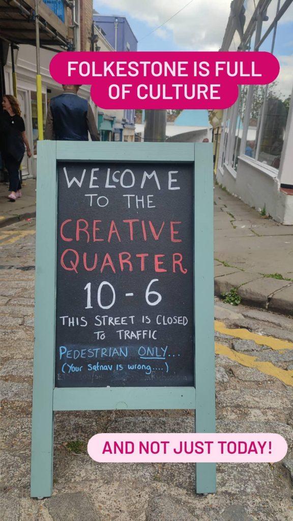 Signage for Folkestone Creative Quarter.
