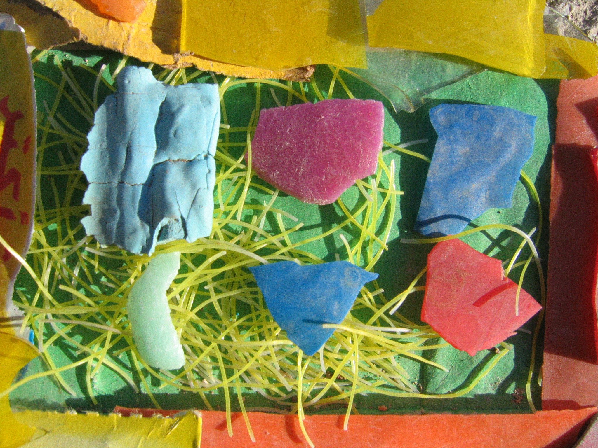 Photograph of colour fragments collected by Euphemia MacTavish in Egypt