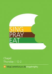 110-IA-16 Freshers publicity flyer A6 2pp - SING PRAY EAT