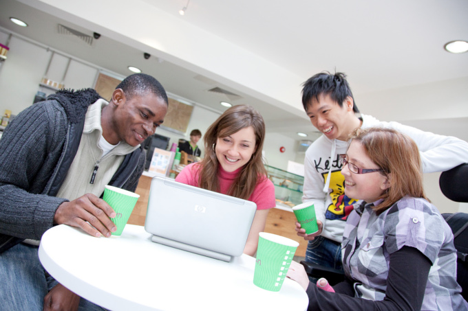 students in touchdown