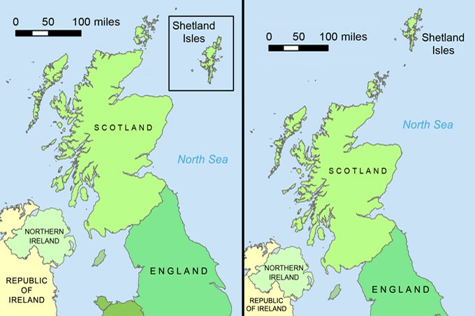 Boxit: remapping the Shetland Islands