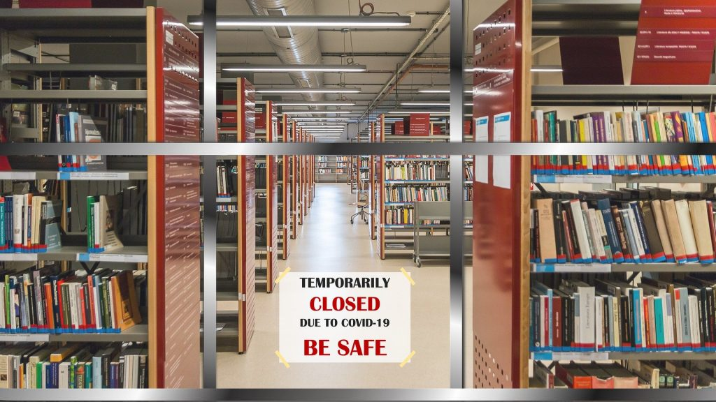 Library closed due to COVID-19