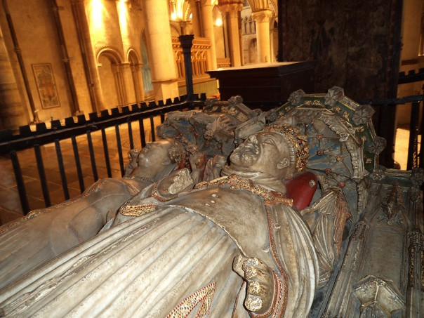 Henry IV's still highly decorated tomb, Canterbury Cathedral