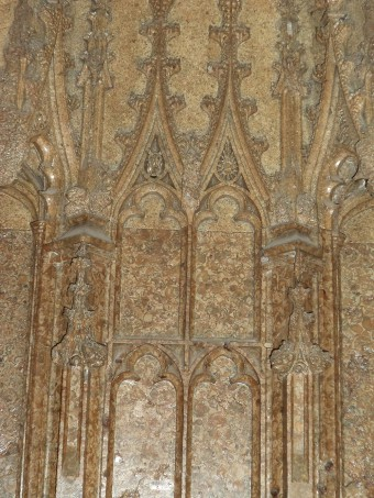 The exquisite carving of Archbishop Bourchier's tomb, Canterbury Cathedral