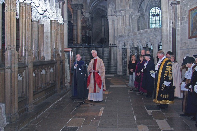 Commemoration of Archbishop Sudbury on Christmas Day Photo: Christopher Robinson (copyright Dean and Chapter, Canterbury Cathedral)