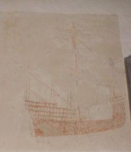 Snargate ship mural 1480-1520