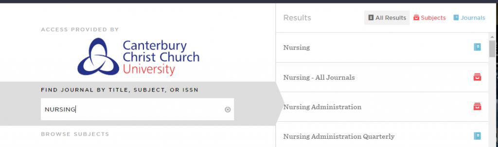 """Browsing """"Nursing"""""""