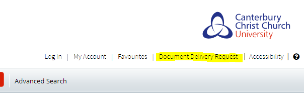 Document Delivery Request link is now available in LibrarySearch