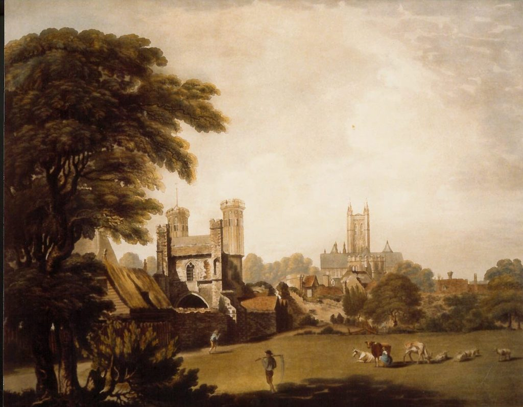 Image shows Painting of North Holmes Road before CCCU