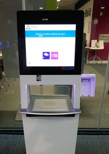 New self-issue machine in Augustine House