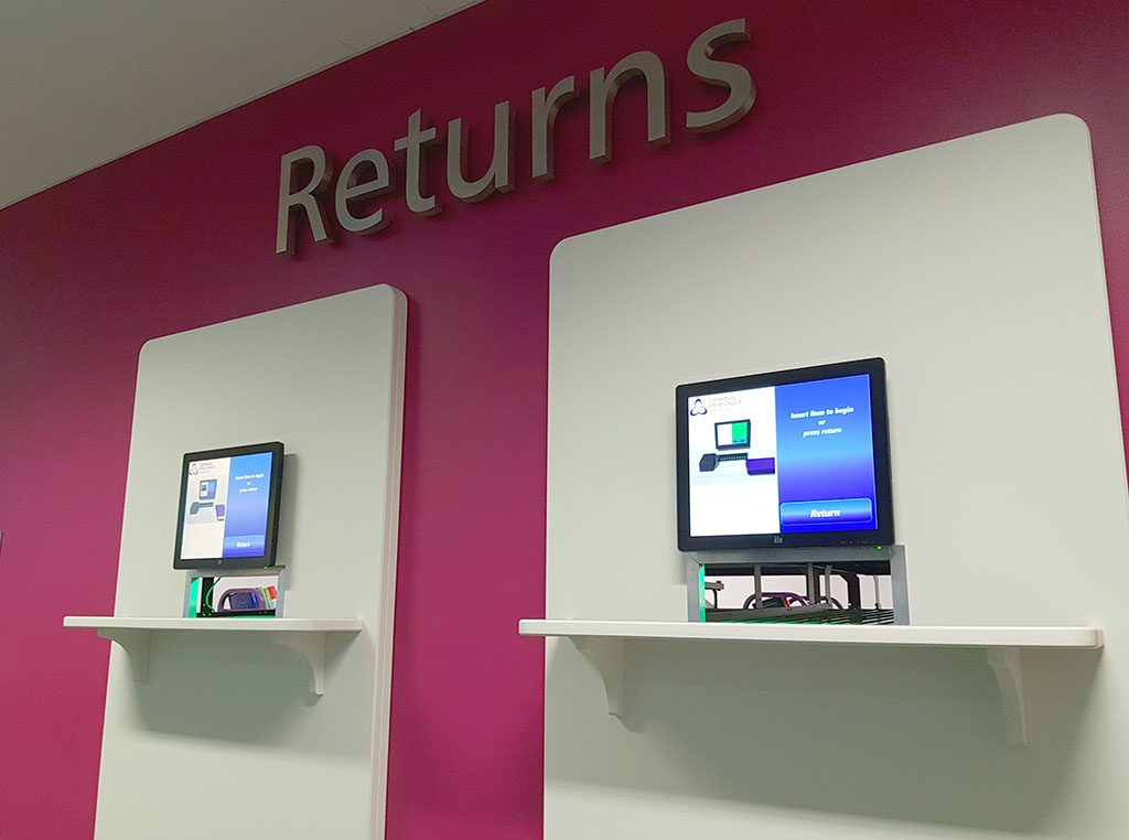 The new self-return machine in Augustine House