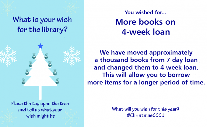 Place a tag upon the tree and tell us what your wish might be…