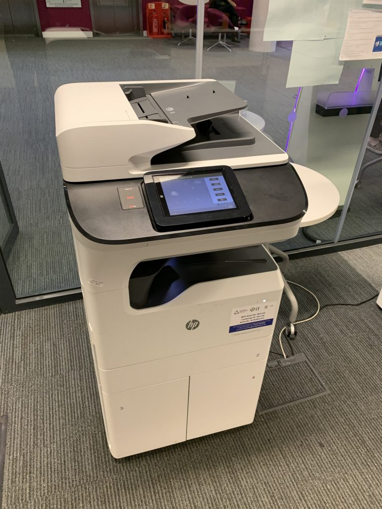 A multi-functional device - printer, photocopier and scanner.