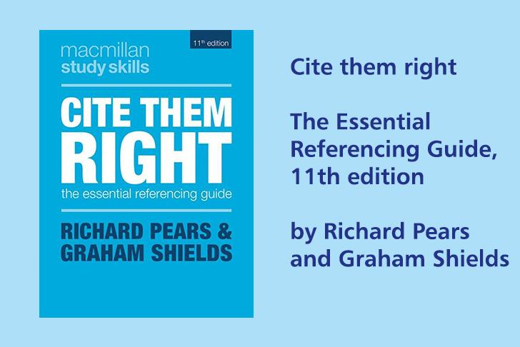 Cite them right book cover