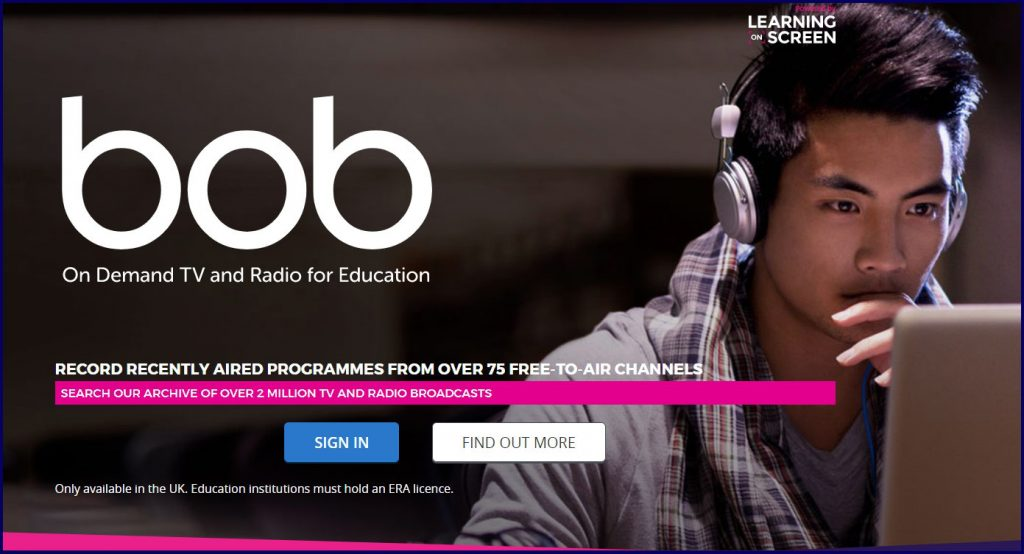 Box of Broadcasts - On Demand TV and Radio for Education - Signing in.