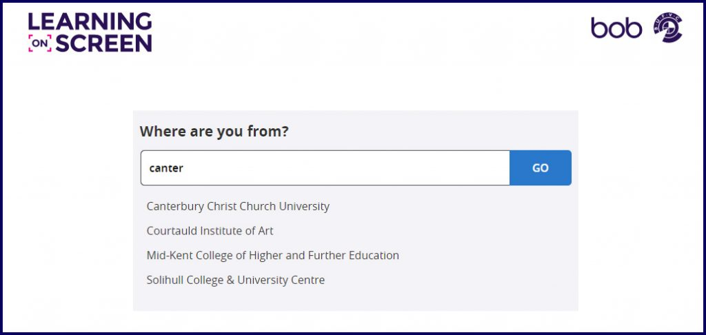 Choose Canterbury Christ Church University as your institution.