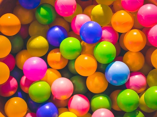 pile of plastic coloured balls