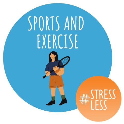 Sports and Exercise circular stressless logo