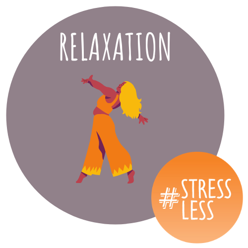 circular relaxation and stressless logo