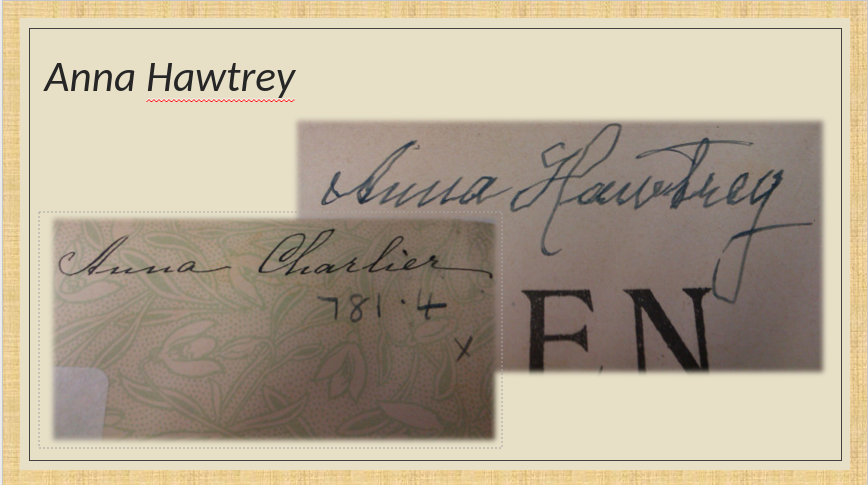 Two images showing Anna Charlier's signatures.