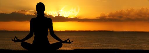 Sunset meditation banner