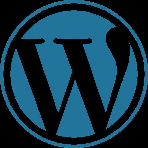 wordpress blue circular logo
