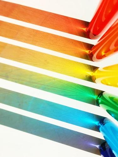 colour stripes - red, orange, yellow, green, blue, purple