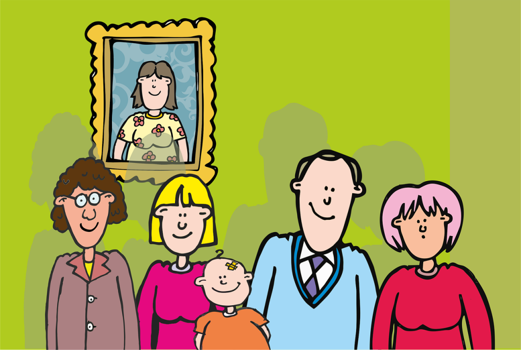 Cartoon - a family picture