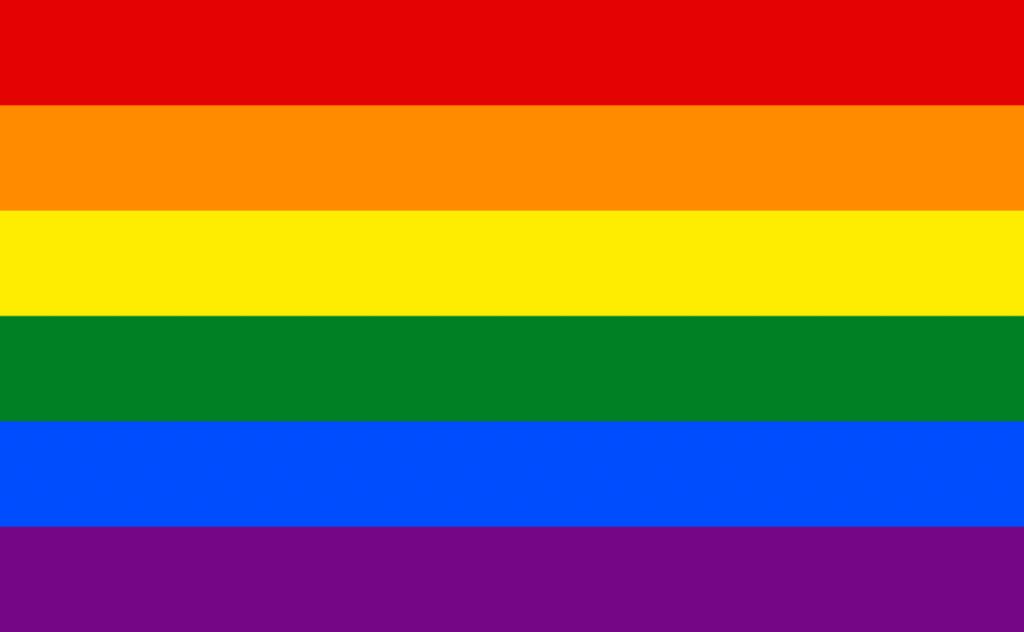 rainbow flag with six stripes