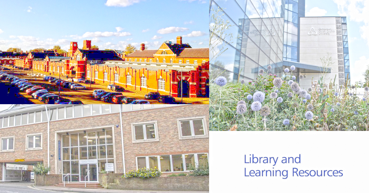 Augustine House, Drill Hall Library (Medway) and the Salomons Institute for Applied Psychology Library