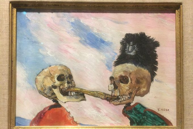 Skeletons Fighting Over a Pickled Herring by James Ensor