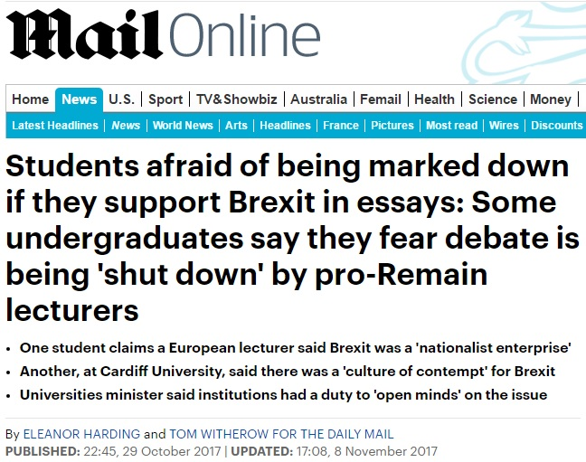 We are not sheep: A student response to the Daily Mail
