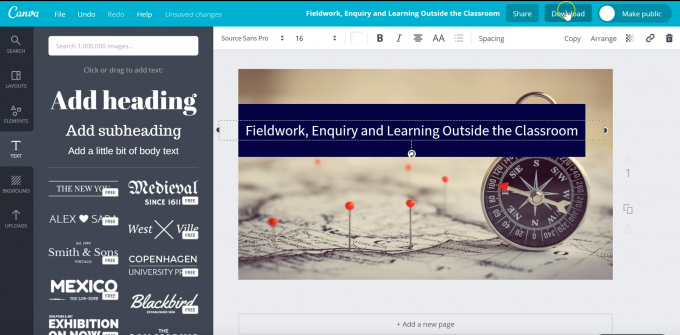 Canva: Visual graphics to engage students