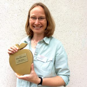 Golden Apple Award winner Britta Osthaus at the CCCU Learning and Teaching Conference 2014