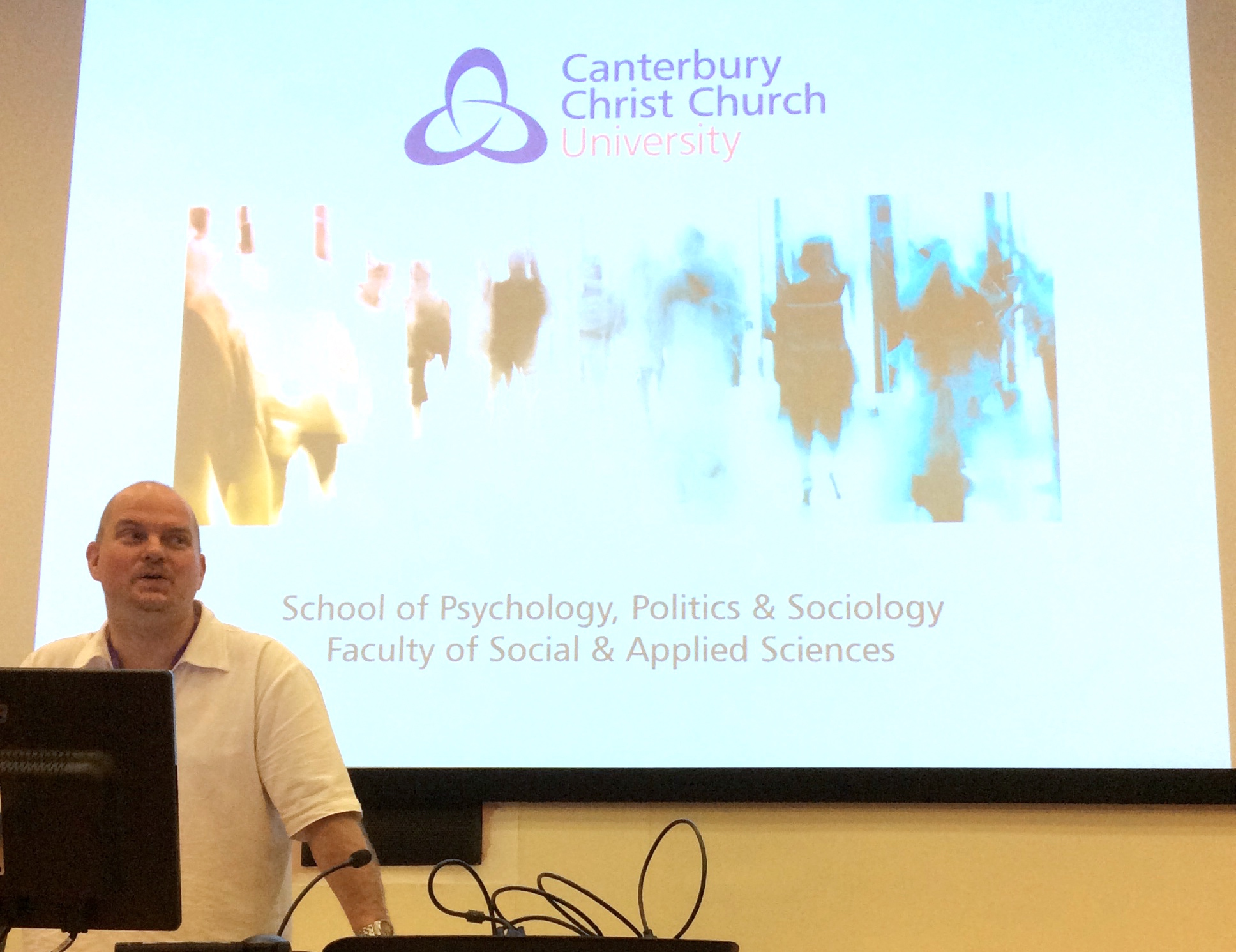 Dennis Nigbur opens the BPS Social Psychology Conference 2014 here at Christ Church