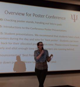 Liz Spruin kicks off the Poster Conference