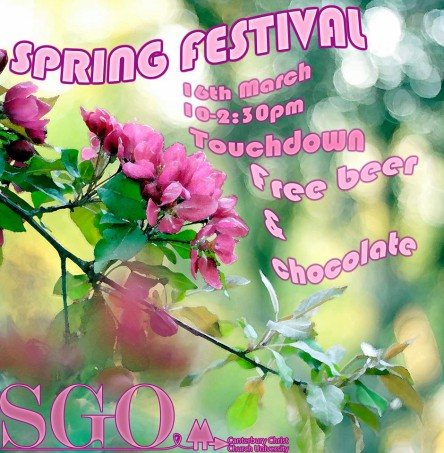 Join the Student Green Office at the Spring Festival.