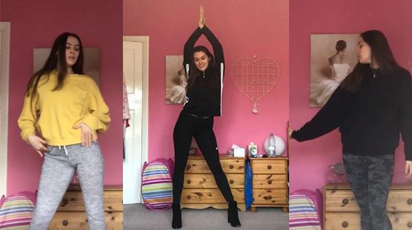 Amy, Dance Education student runs online dance classes during lockdown
