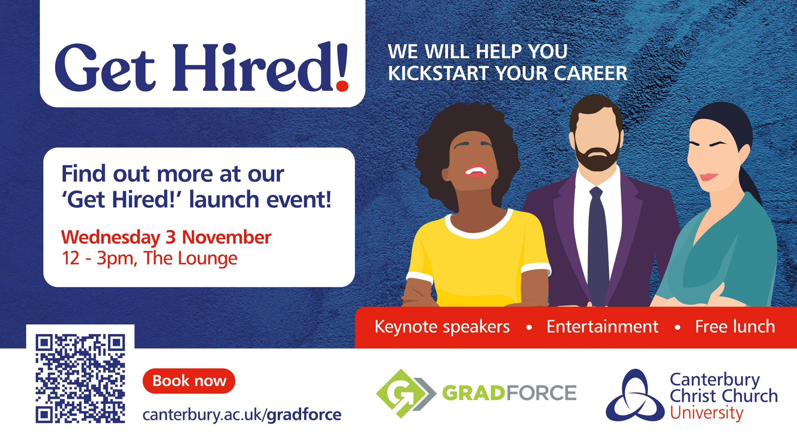 Final year students are invited to the Gradforce launch event on 3 November