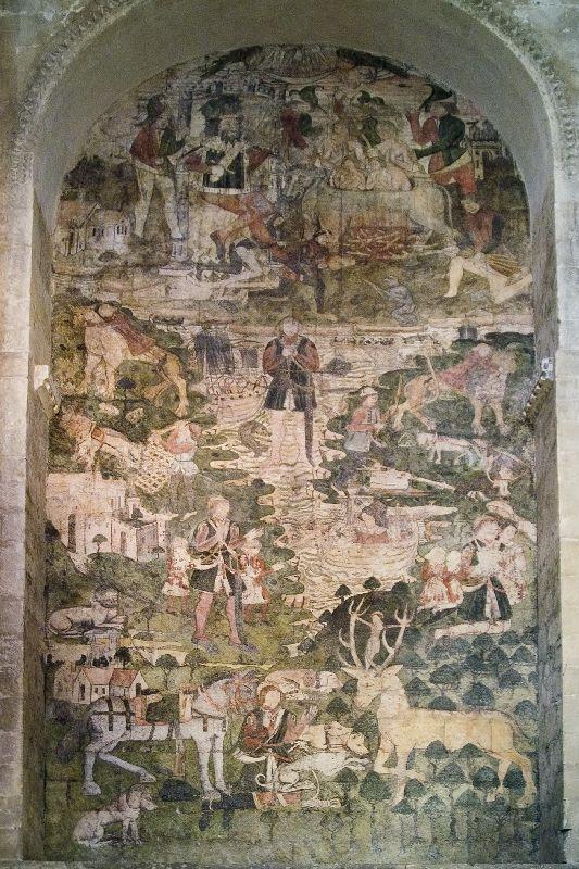 Mural of St Eustace