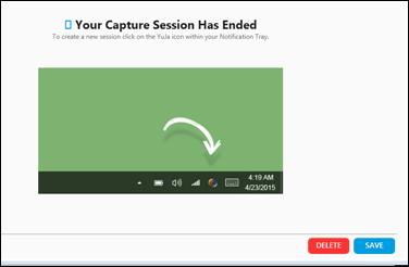 ReCap end recording window.