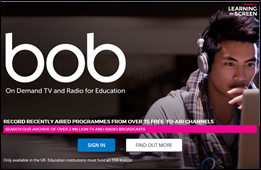 Box of Broadcasts (BoB) home/sign-in page