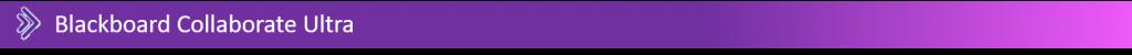 Blackboard Collaborate Ultra banner