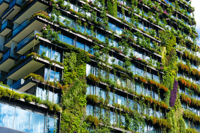 Green cities eat and drink pollution