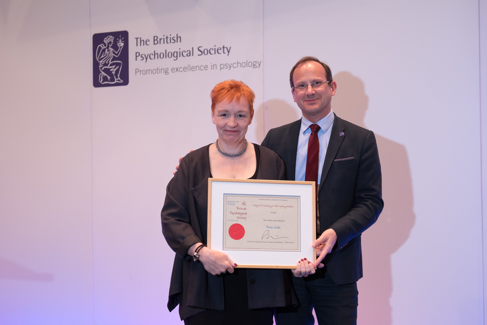 Anne Cooke presented with the British Psychological Society Practitioner of the Year Award
