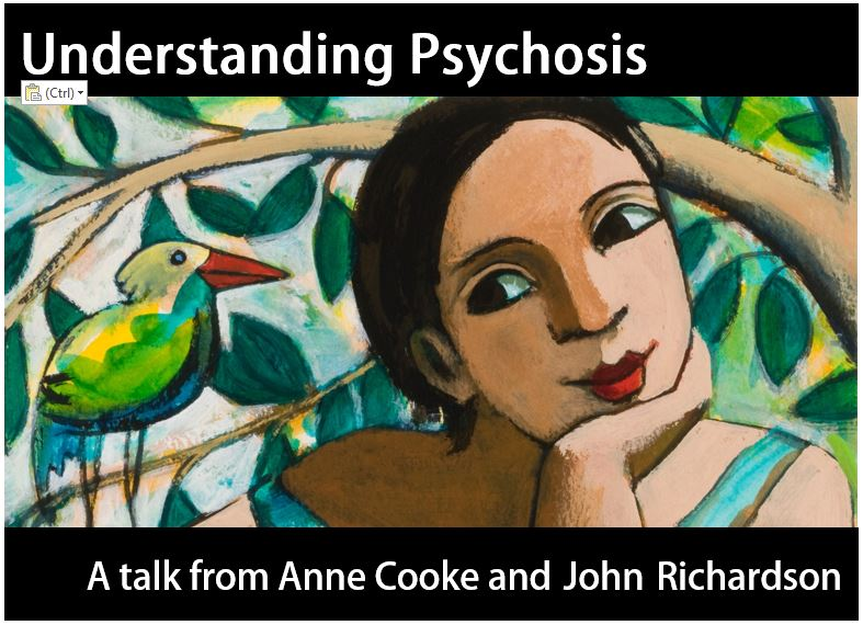 'Understanding Psychosis' - 21st March 2019 - the latest in our series of public lectures