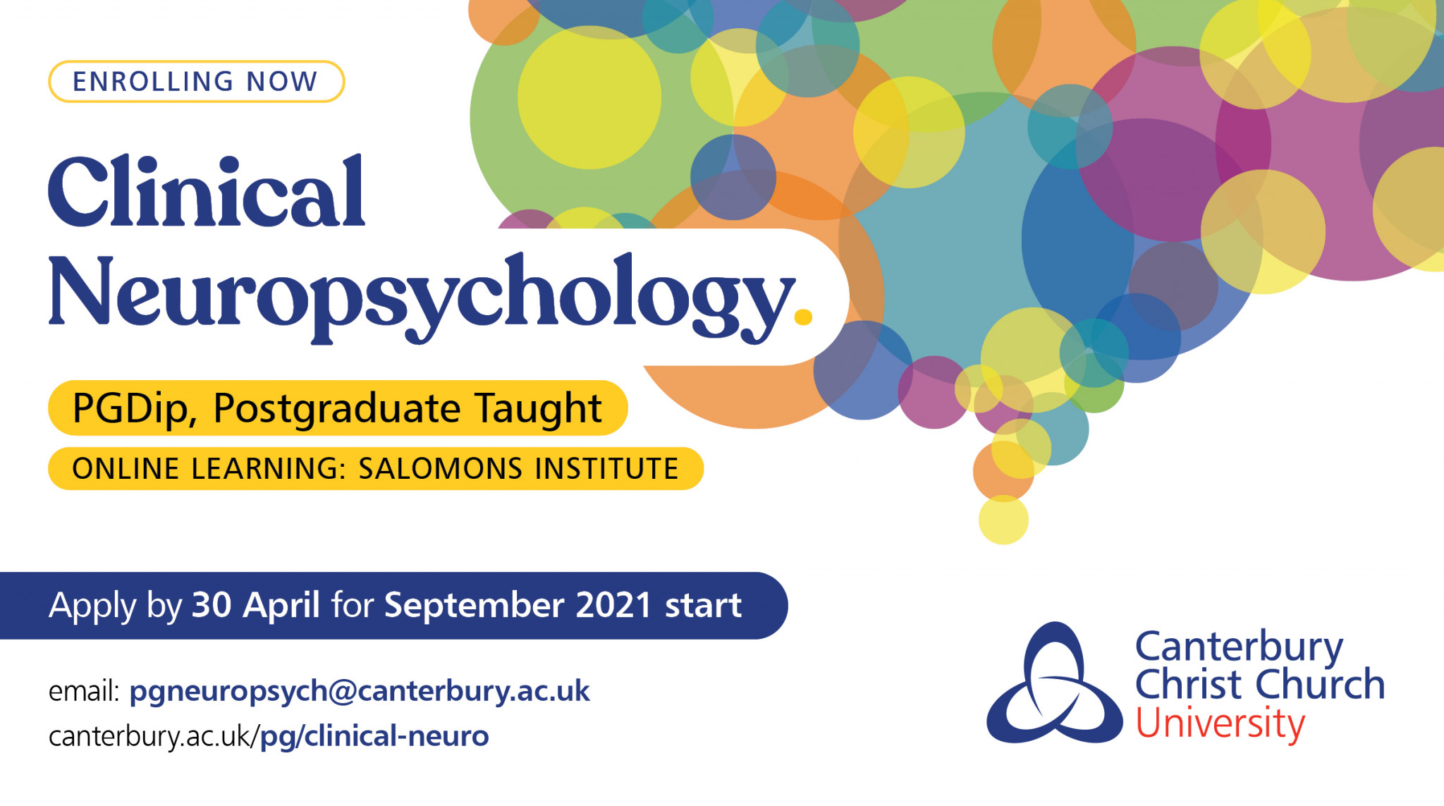 NEW! PGDip in Clinical Neuropsychology at Salomons