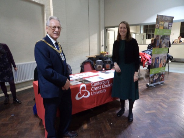 Helping to celebrate Canterbury Society's 10th anniversary